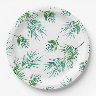'Pine Branches' Paper Plate