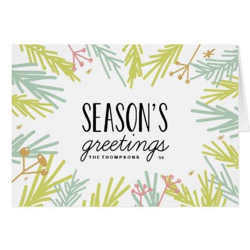 Pine Burst Holiday Greeting Card