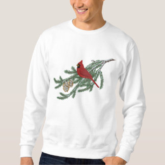 Pine Cardinal Embroidered Sweatshirt