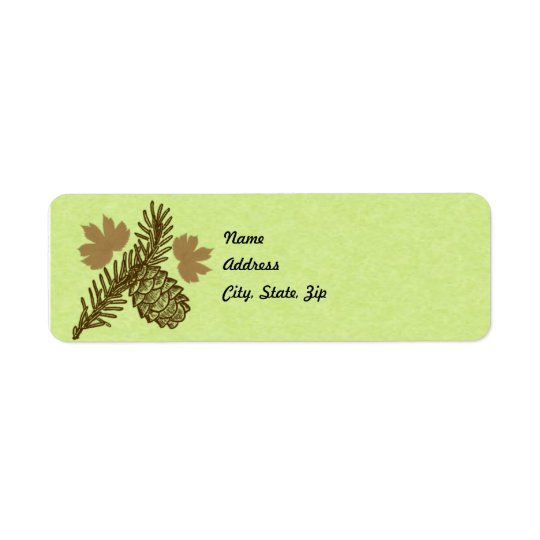 Pine Cone Address Label Template