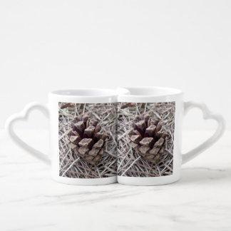 Pine Cone And Pine Needles Couples Mug