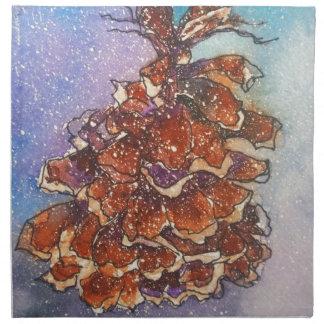 Pine Cone Artwork Napkin