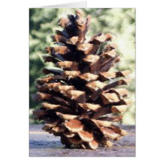 Pine Cone Card, Blank Card