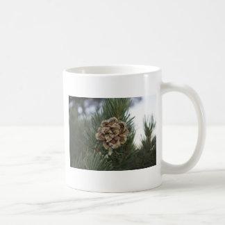 pine cone classic white coffee mug