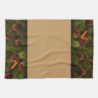 Pine Cone Dish Towel