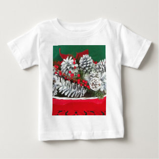 Pine Cone Holly Decoration Baby T-Shirt