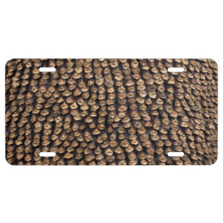 Pine cone pattern license plate