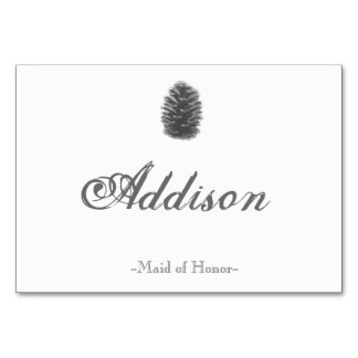 Pine Cone Place Cards Table Card