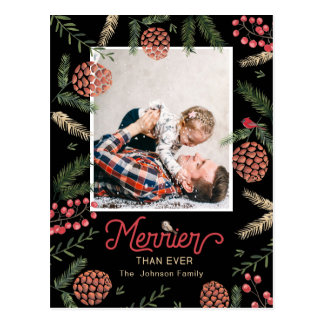 Pine Cone | Postcard | Holiday Photo Card