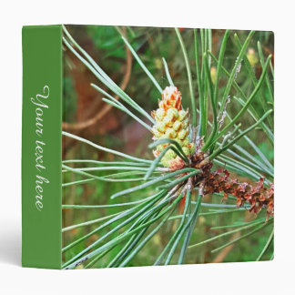 Pine cone tree needles photograph 3 ring binder