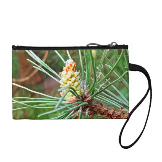 Pine cone tree needles photograph coin purse