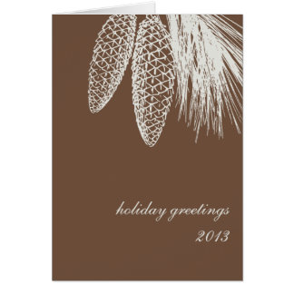 Pine cone winter greeting corporate business logo note card