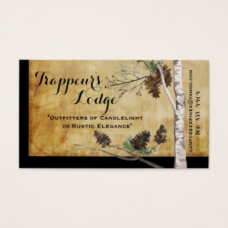 Pine Cones and Tree Textured Look Business Cards