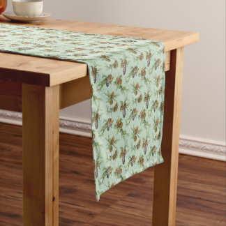 Pine cones Christmas pattern - Christmas gifts Short Table Runner