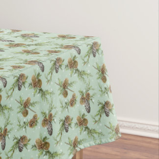 Pine cones Christmas pattern - Christmas gifts Tablecloth