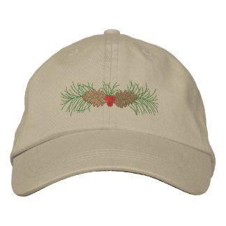 Pine Cones Embroidered Hat