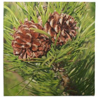 Pine cones napkin