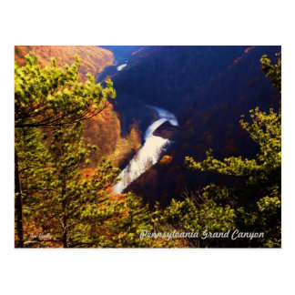 Pine Creek Gorge Overlook at the Pa Grand Canyon Postcard