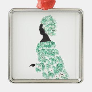 Pine Dryad Metal Ornament