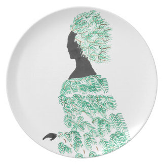 Pine Dryad Party Plate