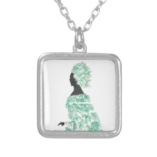Pine Dryad Silver Plated Necklace