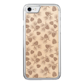 Pine fir christmas tree cedar spruce cones carved iPhone 8/7 case