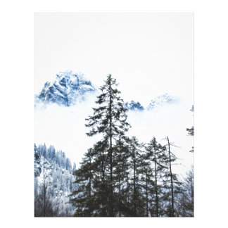 Pine Forest againts Winter Letterhead