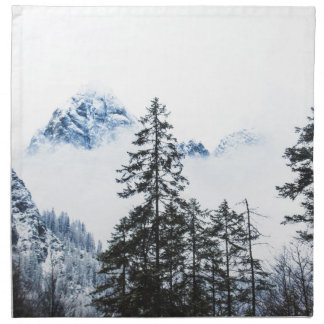 Pine Forest againts Winter Napkin