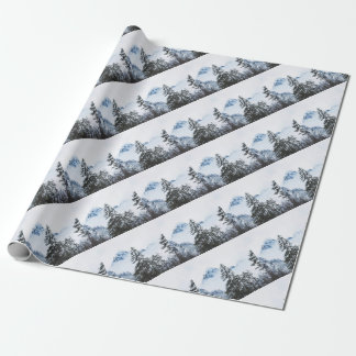Pine Forest againts Winter Wrapping Paper