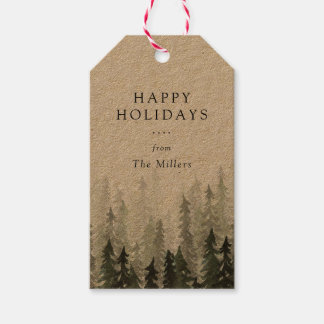 Pine Forest Holiday Pack Of Gift Tags