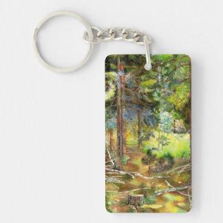 Pine forest keychain