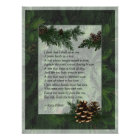 Pine Forest Trees Poster Print
