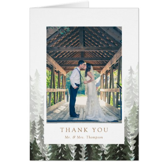 Pine Forest Wedding Thank You Card