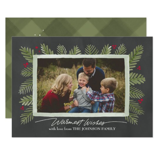 Pine Frame Holiday Photo Card