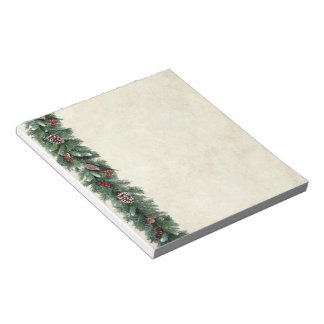 Pine Garland Notepad