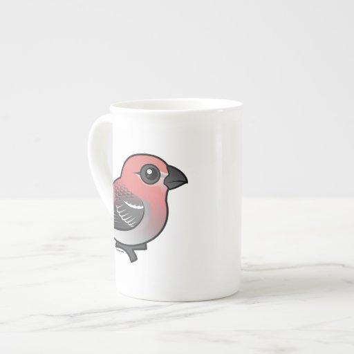 Pine Grosbeak Porcelain Mug