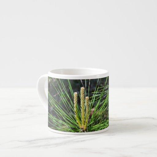 Pine Needles Espresso Mugs