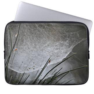 Pine Needles Spider Web Nature Photography Art Laptop Sleeves