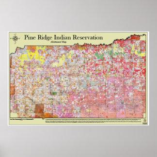 Pine Ridge Indian Reservation Allottment Map Poster