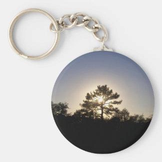 Pine Sunset Keychain