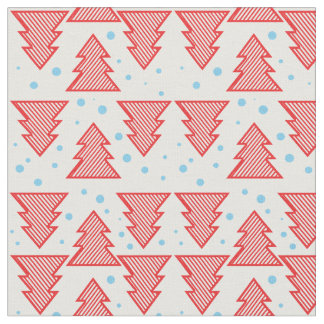 Pine tree and snows Christmas pattern Fabric