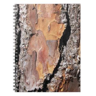 Pine Tree Bark Notebook