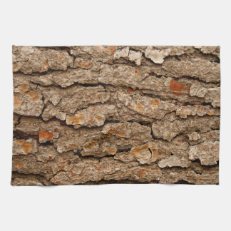 Pine Tree Bark Texture Kitchen Towel