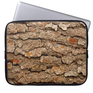 Pine Tree Bark Texture Laptop Computer Sleeves