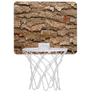 Pine Tree Bark Texture Mini Basketball Hoop
