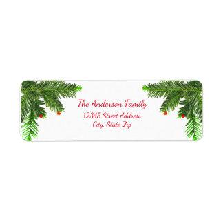Pine Tree Branch - Address Label