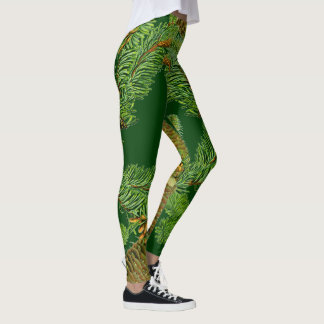 Pine Tree Cones Needles All Over Print Leggings