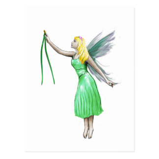 Pine Tree Fairy with pine needles Postcard