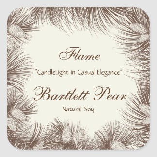 Pine Tree Graphic Candle Label