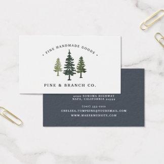 Pine Tree Logo Business Card